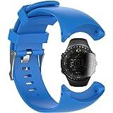 Suunto Core All Black military Banda con protezione dello schermo, braccialetto in silicone per sostituzione TUSITA WristBand per Smart Suunto Watch (BLU)