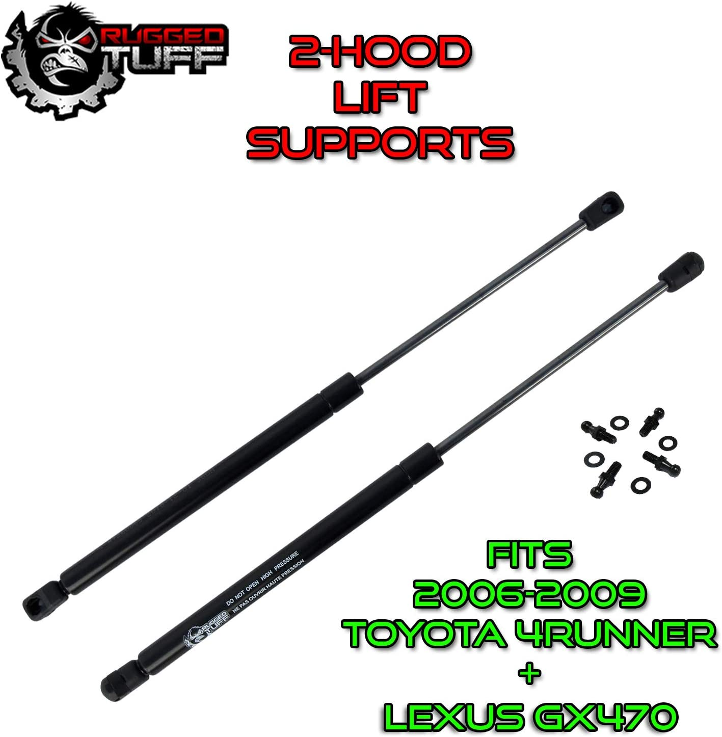 LEXUS GX470 Assist Struts Shocks Springs Props Arms Dampers Bonnet Lid RT260065 SG329065 Qty 2 Rugged TUFF Front Hood Shocks Lift Supports Compatible With 2006 2007 2008 2009 Toyota 4Runner