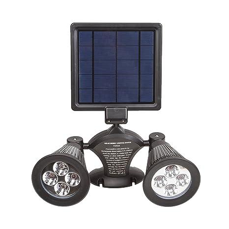 Lampade Solari Da Giardino Amazon.Asvert Lampada Solare Da Esterno 4 Led 400lm Luci Solari 3000mah Illuminazione Giardino Lampioni Da Giardino Solari Impermeabile Con Sensore