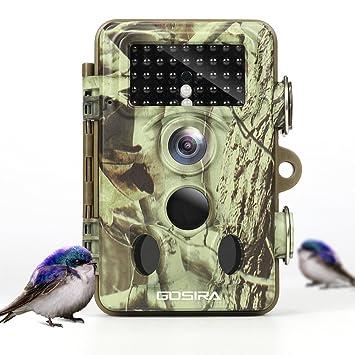 Gosira Camara de Caza 16MP 1080P HD PIR Sensor de Movimiento 120°Tres Zona No