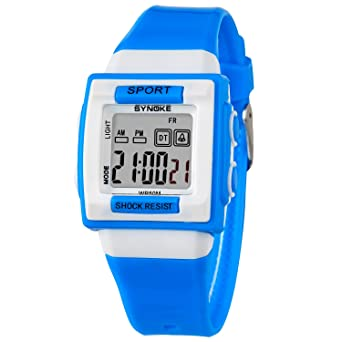 Kids Easy to Read Digital Watch Waterproof Cheap Sport Watches for Teenager Blue Reloj Digital Deportivo