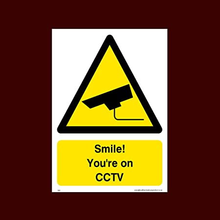Security Warning Property Home Taxi Inside Window Sticker Smile You Are On CCTV