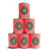 MMRM EVA Souple Cibles de Balles - Rouge - 6 Pièces Pour Nerf N-Strike Élite Dynamiteurs