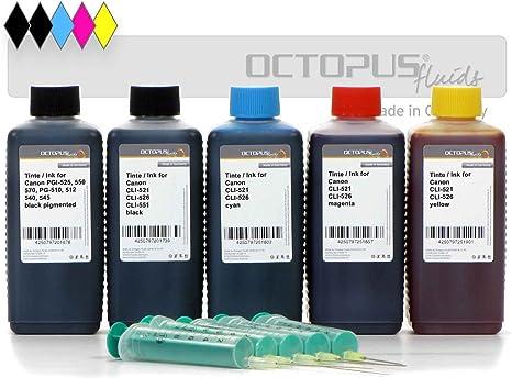 Amazon.com: Juego de recambios de tinta para Canon PGI-520 ...