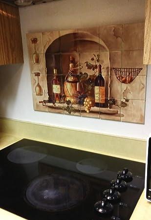 Amazon.com: Hangable Tile Mural / Kitchen Backsplash / Tile Art ...