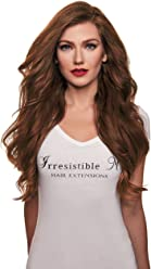 IRRESISTIBLE ME Clip in Hair Extensions Light Brown (#6) - 100% Human
