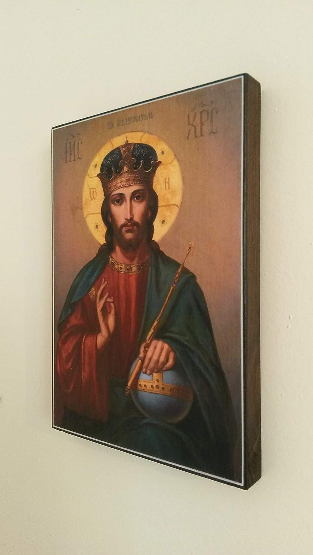 Artastate Ic/ône chr/étienne orthodoxe en Bois Fait /à la Main