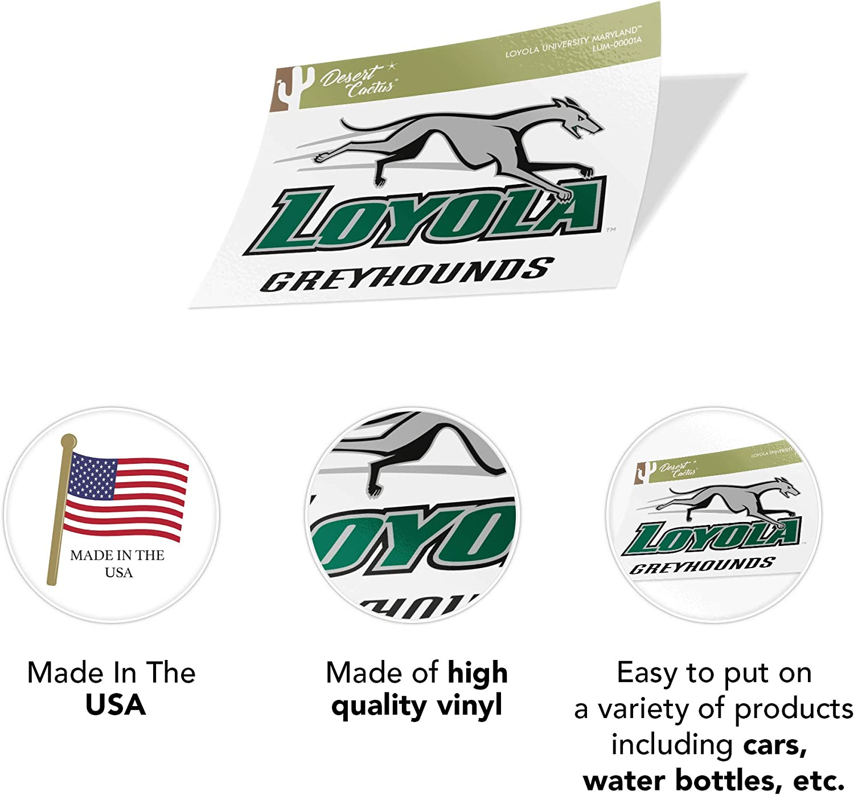 Sticker - 00001A Loyola Maryland University Greyhound NCAA Vinyl Decal Laptop Water Bottle Car Scrapbook