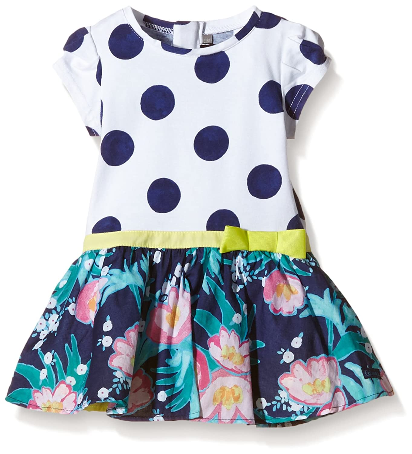 Catimini Baby Girls CHLFD SPIRIT GRAPHIC F L Polka Dot Dress white