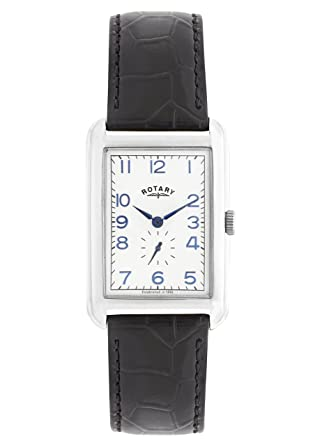 rotary men s quartz watch white dial analogue display and rotary men s quartz watch white dial analogue display and black leather strap gs02697 21