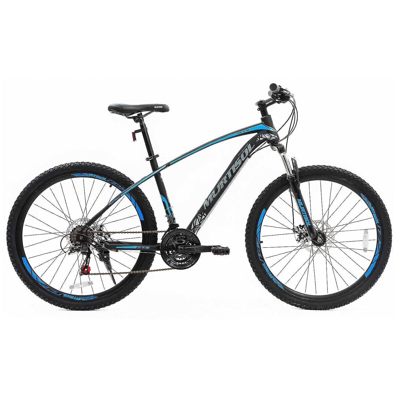 murtisol 27.5インチマウンテンバイク21速度自転車Shimano derailleurディスクブレーキスチールフレームで3色 B07D3JDHDC  ブルー&ブラック