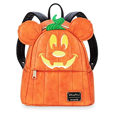 Disney Mickey Mouse Pumpkin Mini Backpack by Loungefly: Clothing
