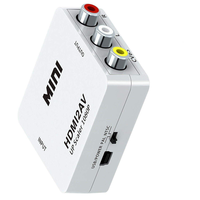 HDMI to AV Mini Size 1080p HDMI2AV Converter HDMI to AV HDMI Converter to RCA Composite RCA Video Audio Converter Adapter Box Hdmi Converter Box