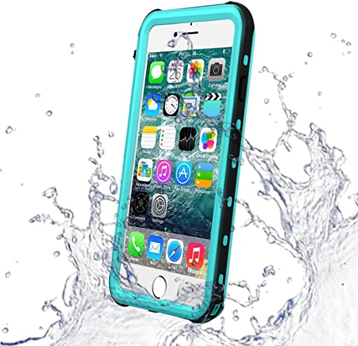 Amazon Com Iphone 7 Waterproof Case Iphone 8 Case Dust Proof Snow Proof Shock Proof Case With Touched Transparent Screen Protector Heavy Duty Protective Carrying Cover Case For Apple Iphone 7 8 Teal