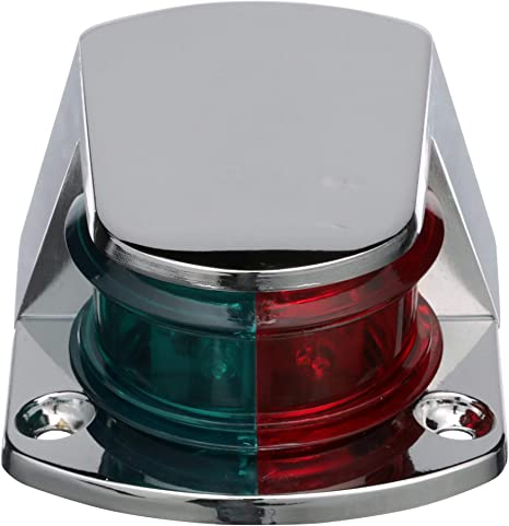 1 Mile Bi-Color Combination Deck Mount Bow Navigation Light for Boats