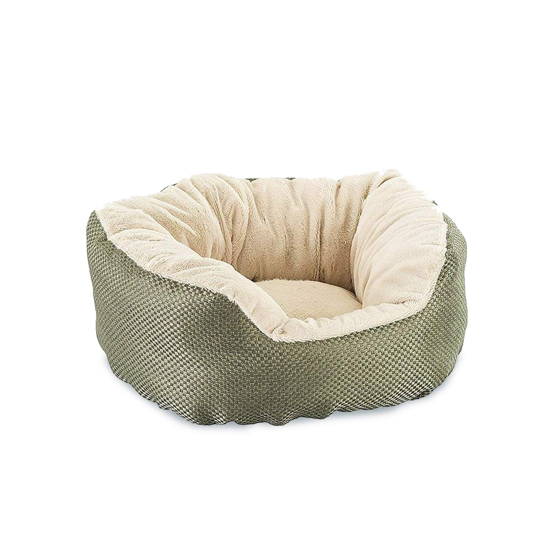 Ethical Pets Sleep Zone Basket Weave Cuddler Pet Bed, 18-Inch, Sage 32908