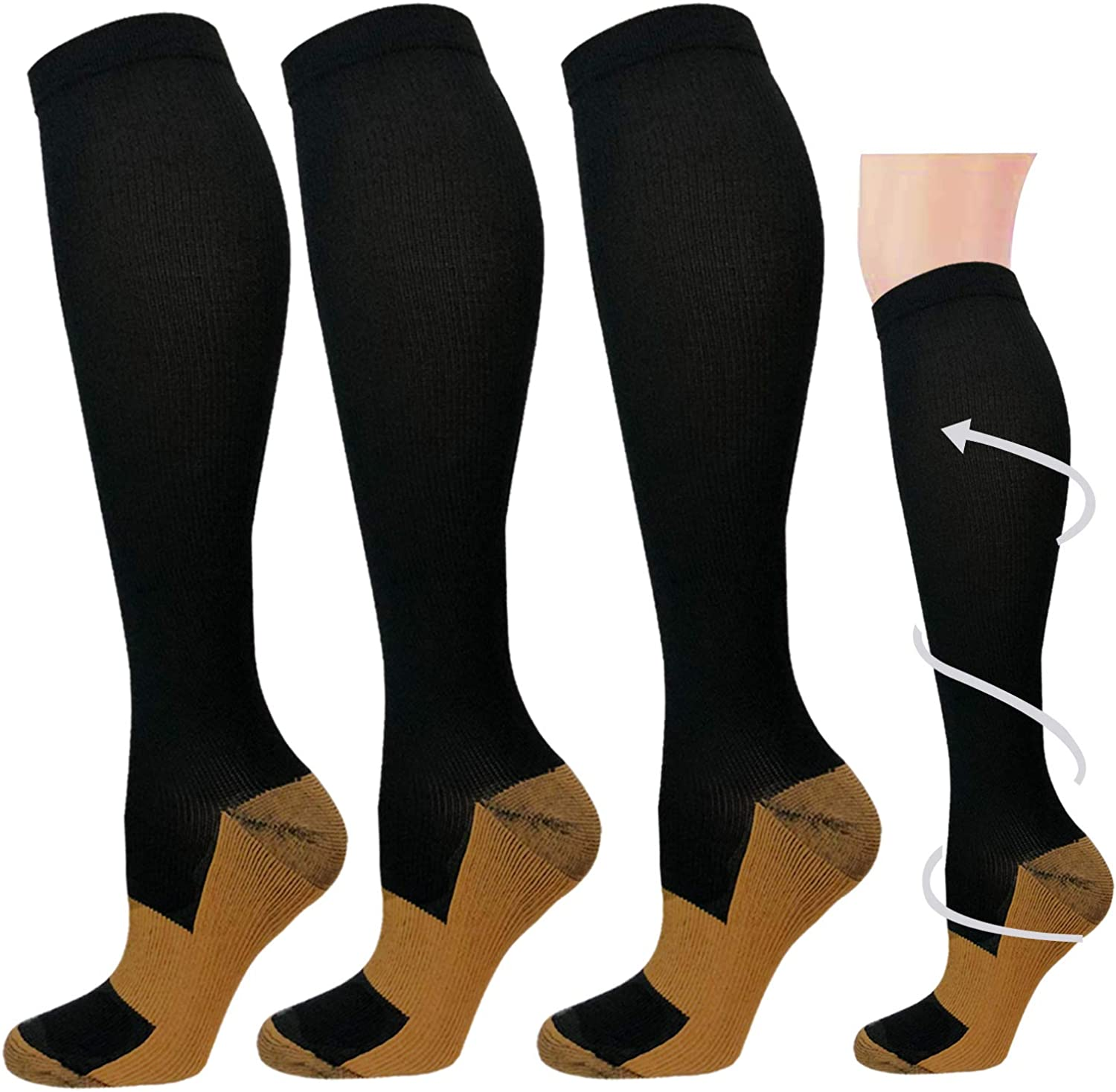 Graduated Medical Compression Socks for Women&Men 20-30mmhg Knee High Sock