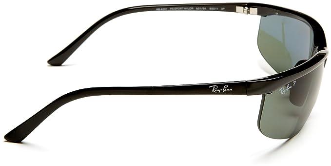 d78e59acbbc Ray-Ban RB4021 - BLACK Frame POLAR GREEN Lenses 69mm Polarized  Ray-Ban   Amazon.in  Clothing   Accessories
