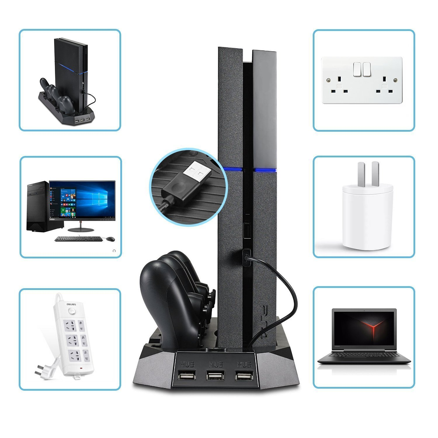 Galleon Pecham Vertical Stand For Ps4 Slim Ps4 With