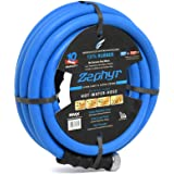 "Zephyr Next-gen Garden Hose (1/2"" x 25ft, Ultra-Light Flexible Rubber, Brass Fittings),Blue"