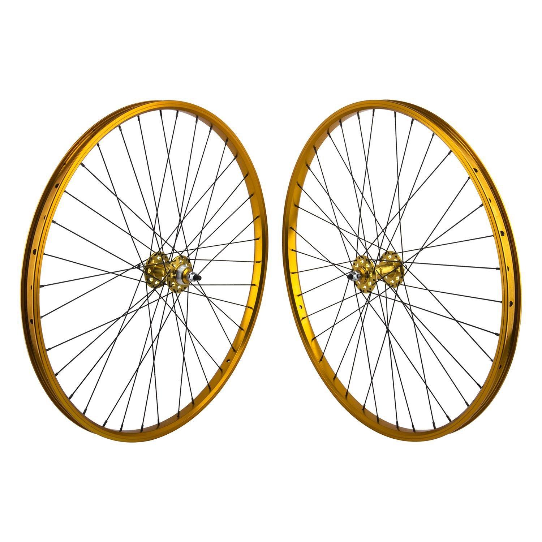 Se Bikes 29 in Sealedホイールリムセットシュレイダーバルブ B07DD5WSXS ゴールド ゴールド