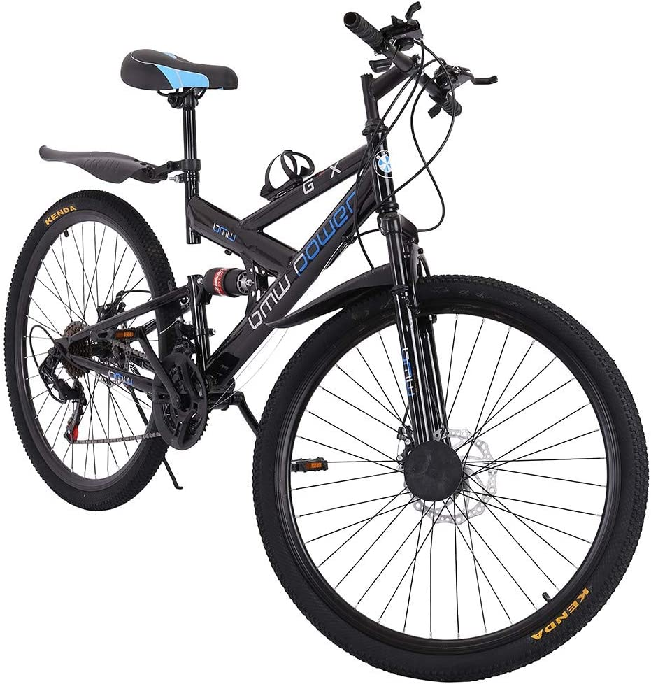 Full Suspension Road Bikes with Disc Brakes 21 Speed Bicycle Full Suspension MTB Bikes for Men//Women WEI DA f 26in Carbon Steel Mountain Bike Shimanos21 Speed Bicycle Full Suspension MTB