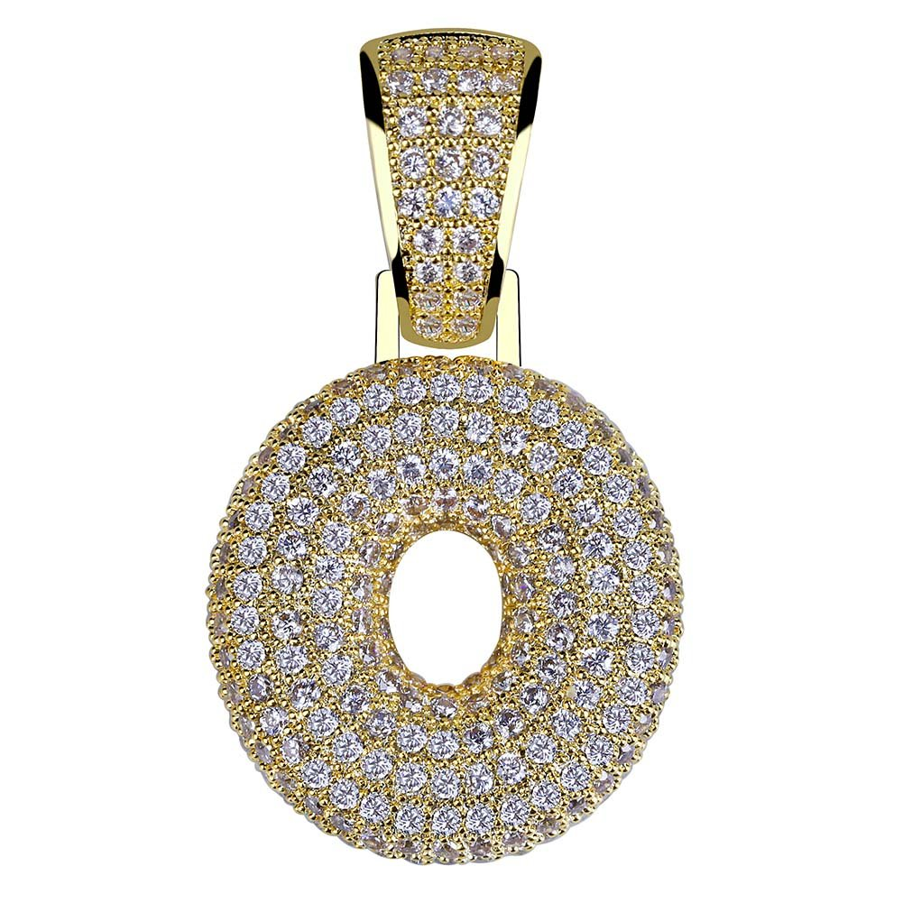 63770717e HECHUANG Micropave Simulated Diamond Iced Out Bling Custom Bubble Letters  Pendant Rope Chain