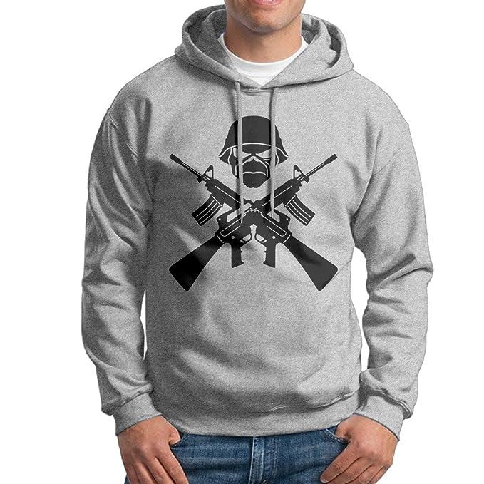Marc para Hombre Iron Maiden Sudaderas con Capucha Ash tamaño XXL: Amazon.es: Ropa y accesorios