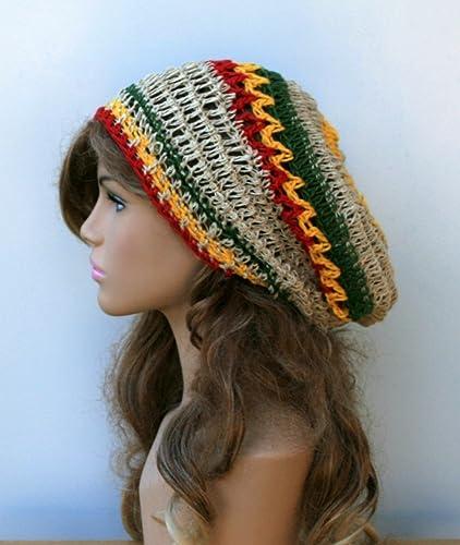 e38d83f08dd Amazon.com  Handmade Jamaica slouchy hat