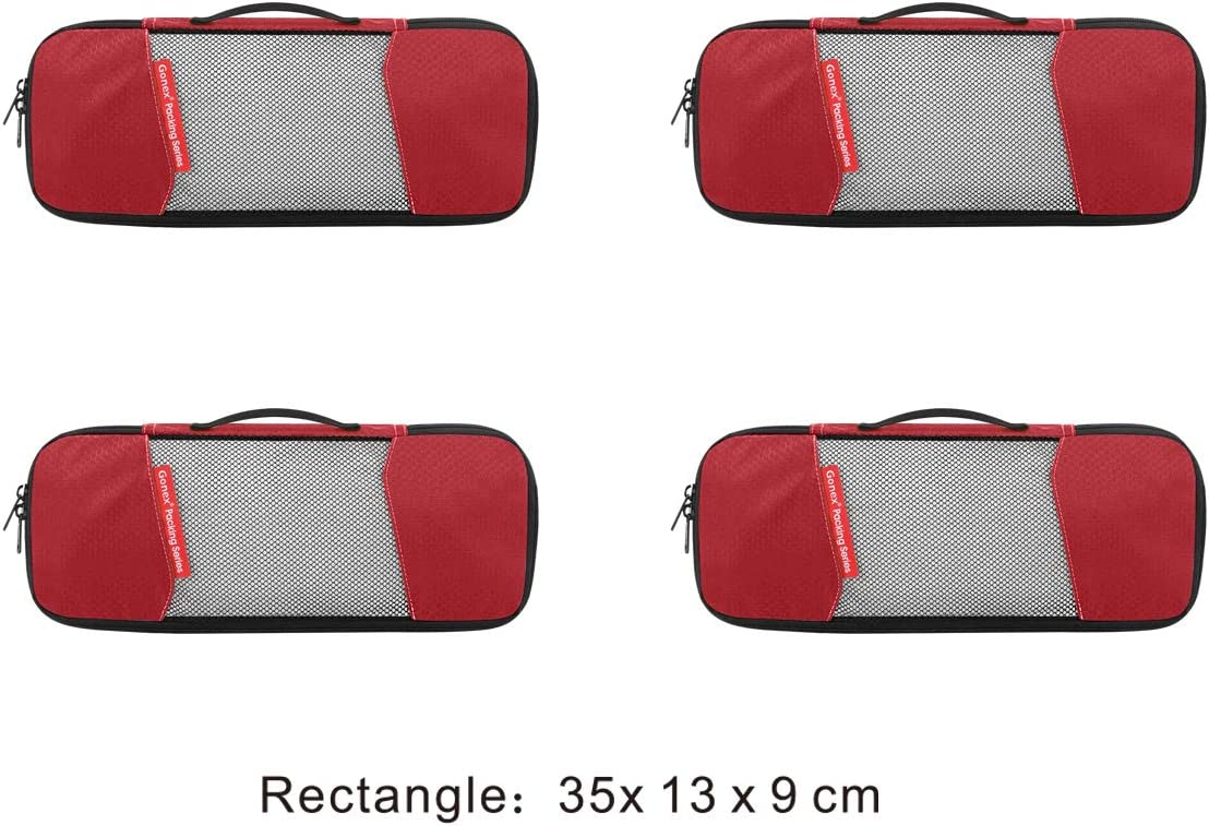 4 Schmale Gonex - GX010D-DE Rouge Organiseur de bagage Rot
