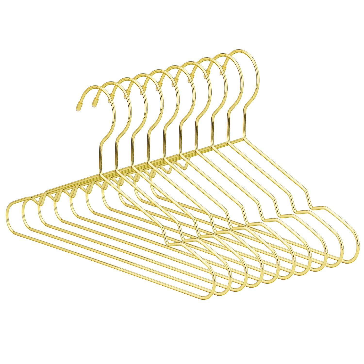 30 Pack Children Hanger Jetdio 12.5 Children Gold Metal Clothes Shirts Hanger with Notches Cute Small Strong Coats Hanger for Kids