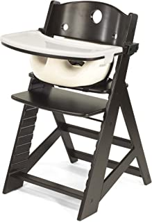 product image for Keekaroo Height Right High Chair with Infant Insert & Tray, Espresso/Vanilla