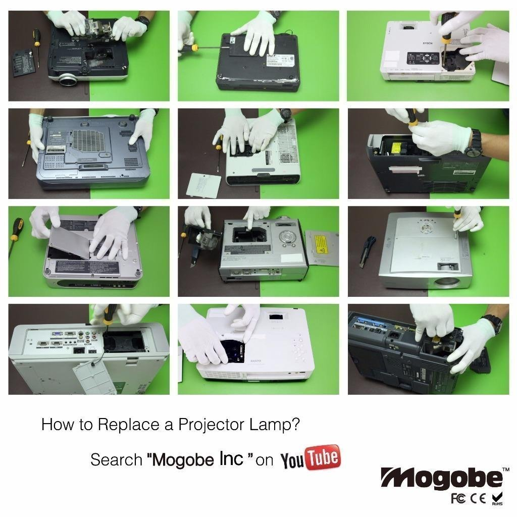 For ELPLP57 Replacement Projector Lamp with Housing by Mogobe