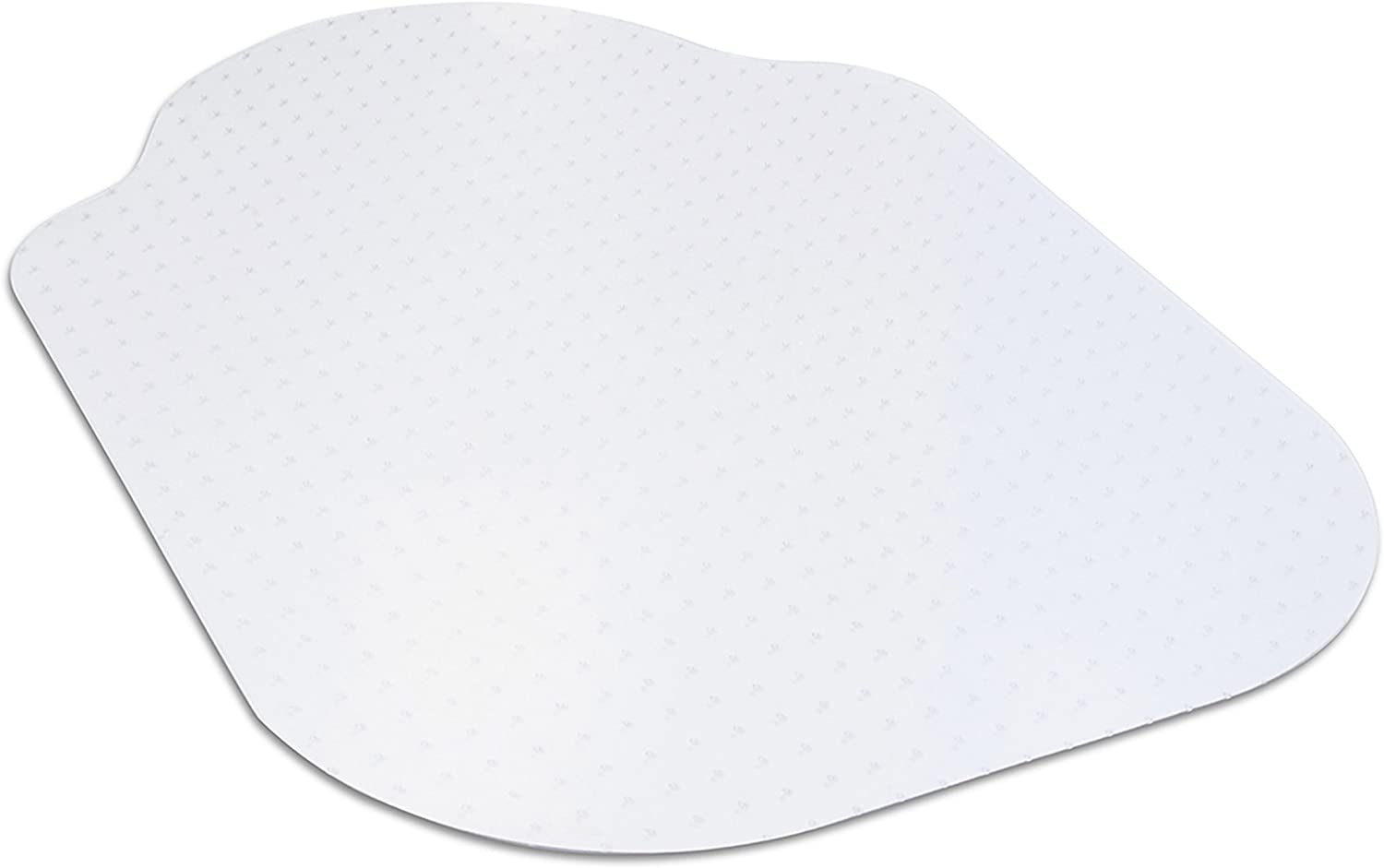 """Evolve Modern Shape Clear Office Chair Mat with Lip for Low and Medium Pile Carpet, Made in The USA by Dimex, 33"""" x 44"""" (C5B5003J)"""