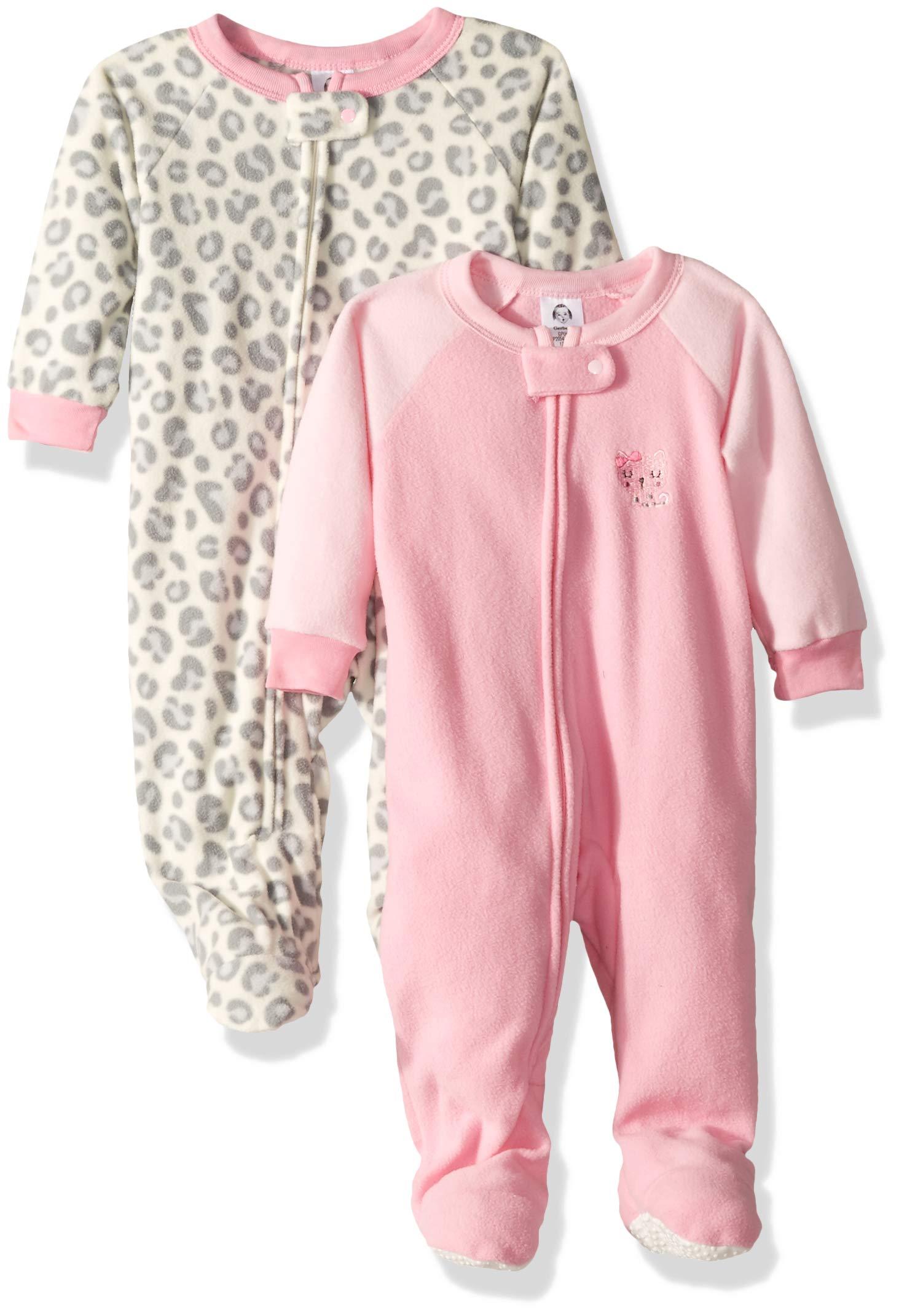 Gerber Baby Girls' 2-Pack Blanket Sleeper, Pink