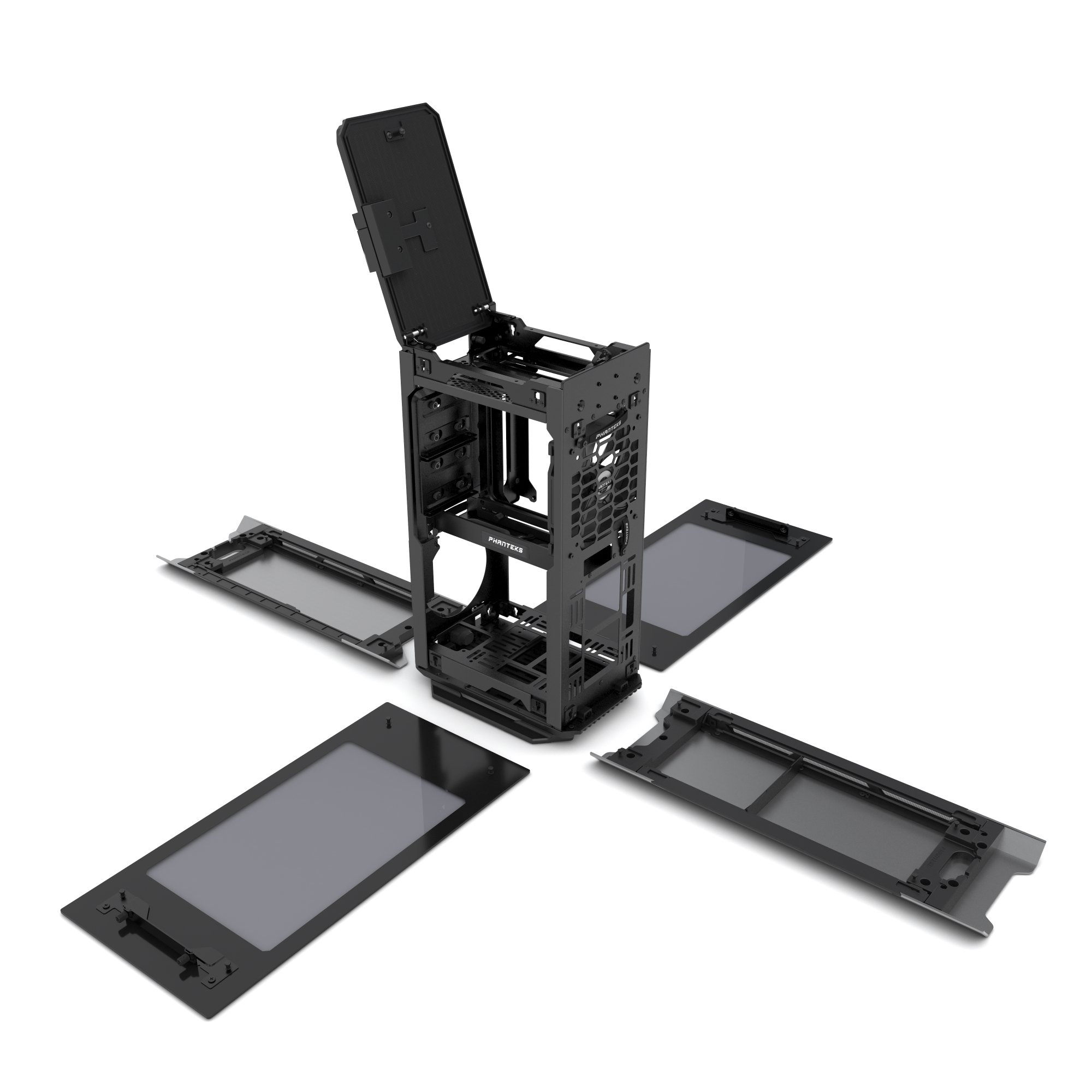 Phanteks PH-ES217E_AG EVOLV SHIFT Mini ITX Dual Tempered Glass for AIO water cooling Anthracite Gray Cases by Phanteks (Image #12)
