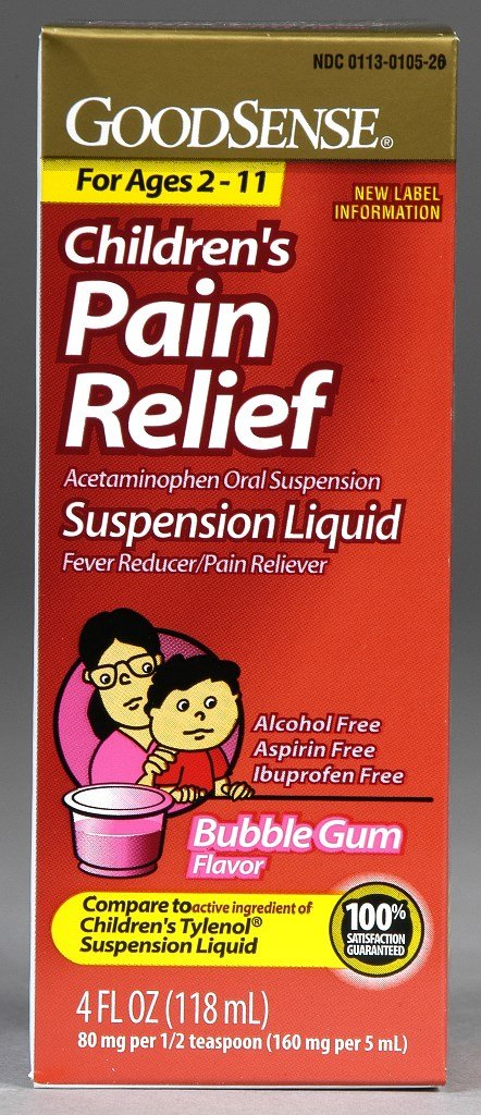 GoodSense® Goodsense® Child Pain Relief Suspension Liquid 160mg Bgum 4 Oz(Pack of 48)