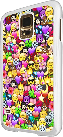 2070 Cool Fun Funny Emoji Wallpaper Crown Princess Poop Devil Smiley Love Heart Design For Samsung Galaxy S5 S5 Neo Fashion Trend Case Back Cover Plastic Thin Metal White Amazon Ca
