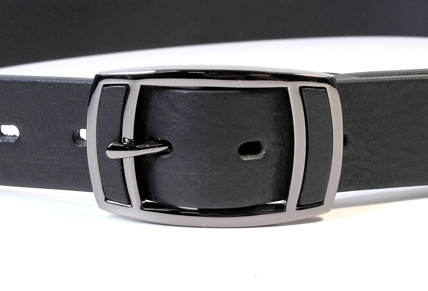 Mens Real Genuine Leather Black Belt 1.25 Wide S-L Thick Long Casual Jeans UM1