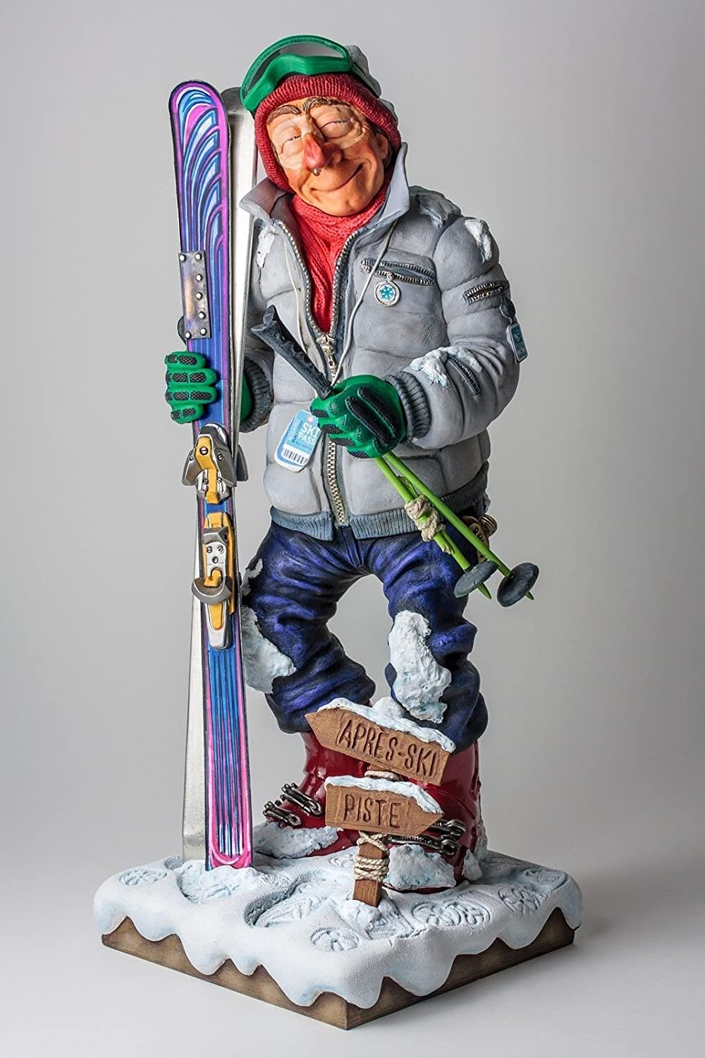 Skier Figurine  - by Guillermo Forchino - 17 Inch Tall