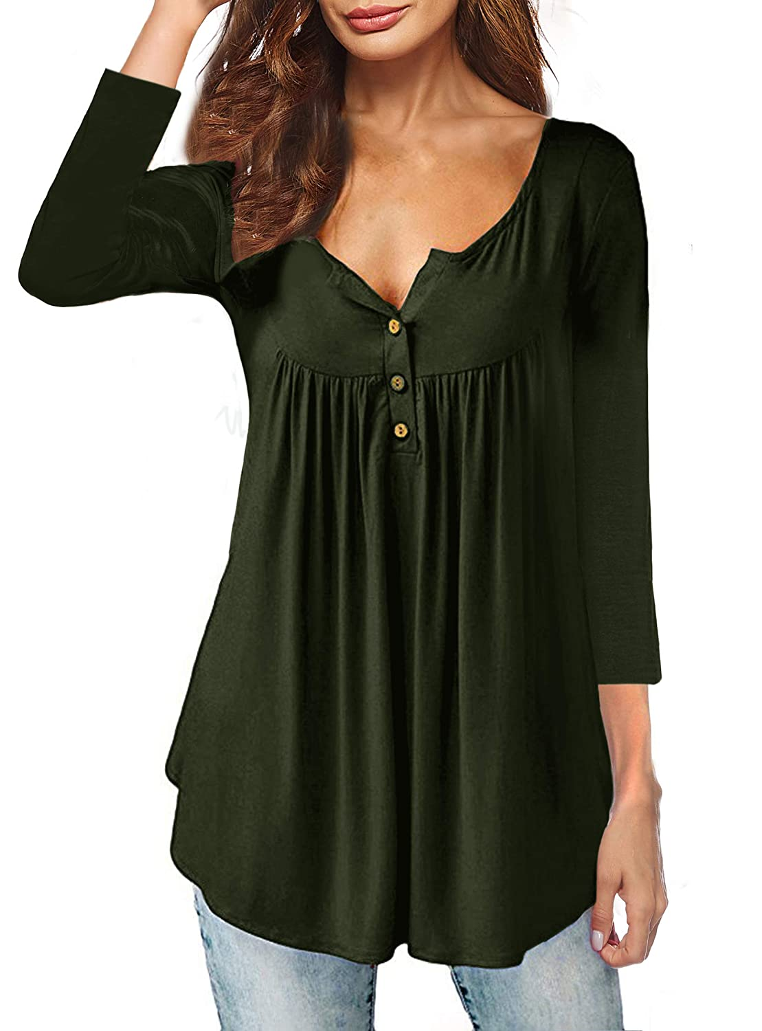 32f0a1f17 Bust: (S)40.16 inches (M)42.13 inches (L)44.09 inches (XL)46.46 inches  (2XL)49.61 inches. Material: 95% Rayon+5% Spandex, soft,comfortable,stretchy  and ...
