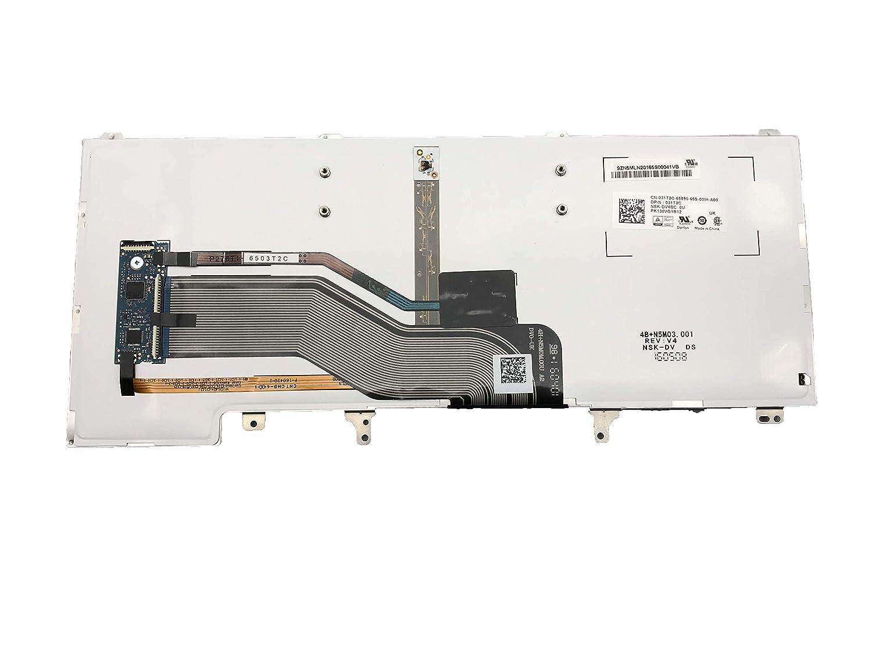 KBR Replacement Keyboard with Backlight Compatible for Dell Latitude E5420 E5430 E6220 E6230 E6330 E6320 E6420 E6430 Series Laptop