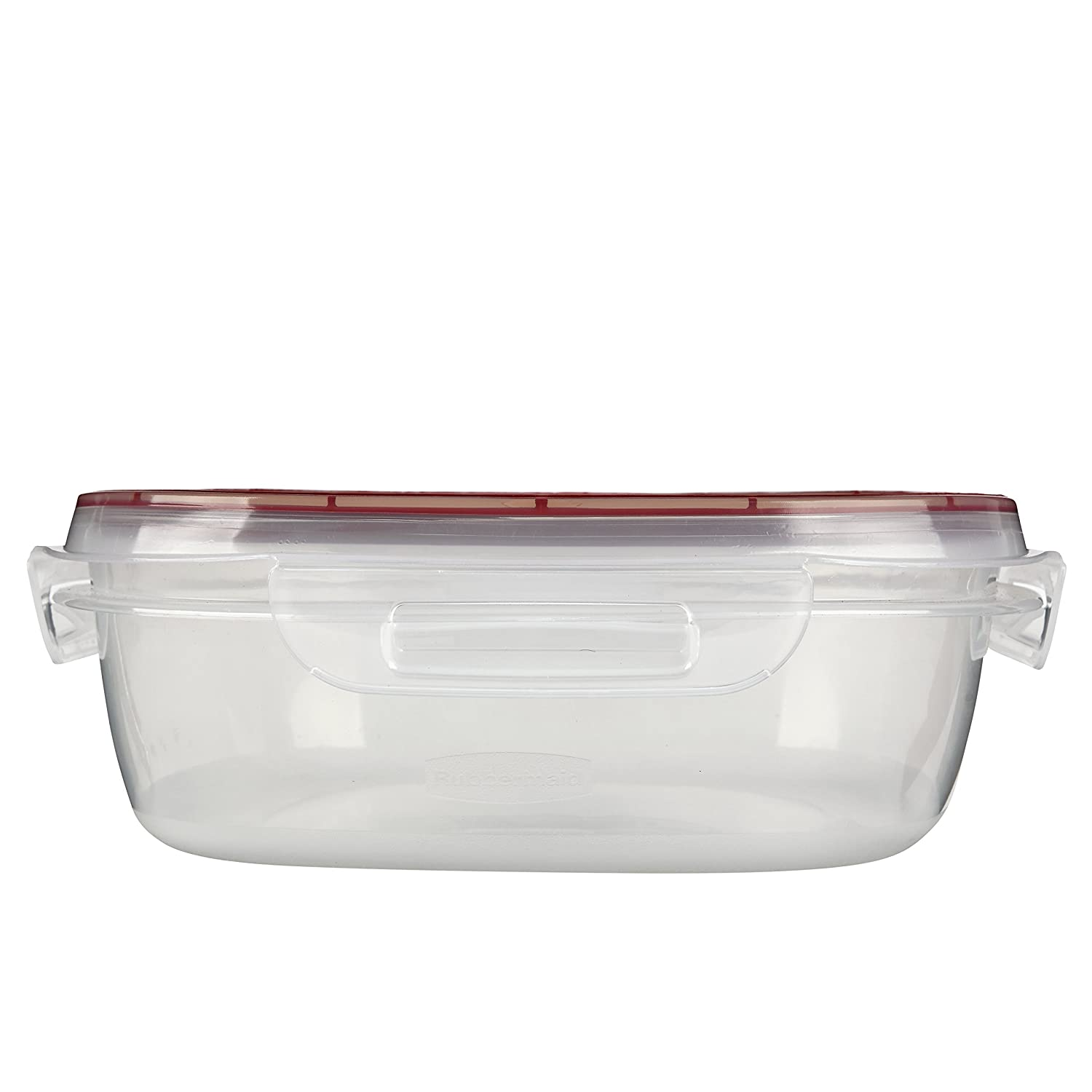 Rubbermaid Lock-Its Square Food Storage Container with Easy Find Lid, 9 Cup, Racer Red 1778070