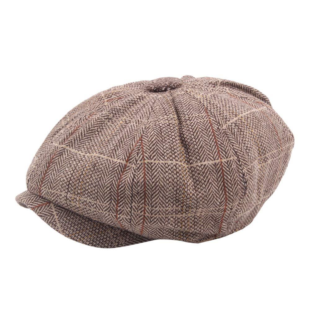 Goldatila Unisex Volltonfarbe Cap Retro britischen Wind Beret Achteckige Beret Winter Herbst Vintage Hut Geschenk One Size ist geeignet für die meisten Menschen Mann Frauen Flat Caps