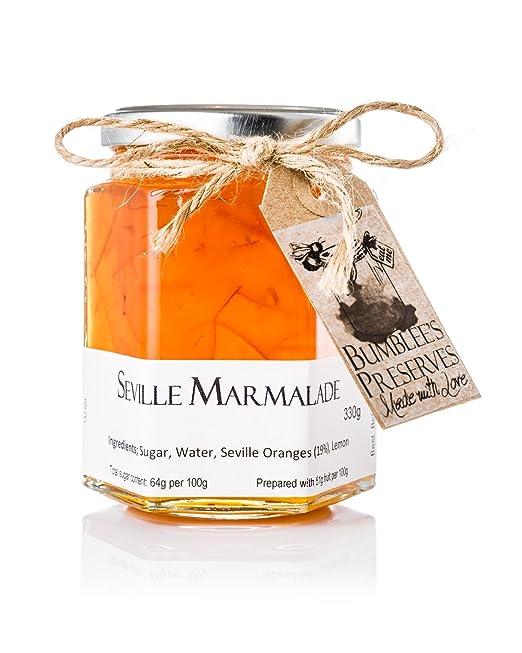 Bumblees | Mermelada artesanal tipo jalea sabor naranja amarga | 330g | Mermelada hecha a mano