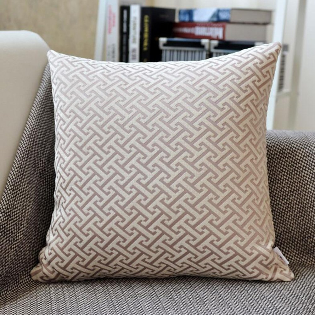 Throw Pillows CJC Pillow Cushions Backrest Square Pattern Covers Single Unit Support Gift Hotel Reading Car Travel Plane (Color : T3, Size : 4545cm)