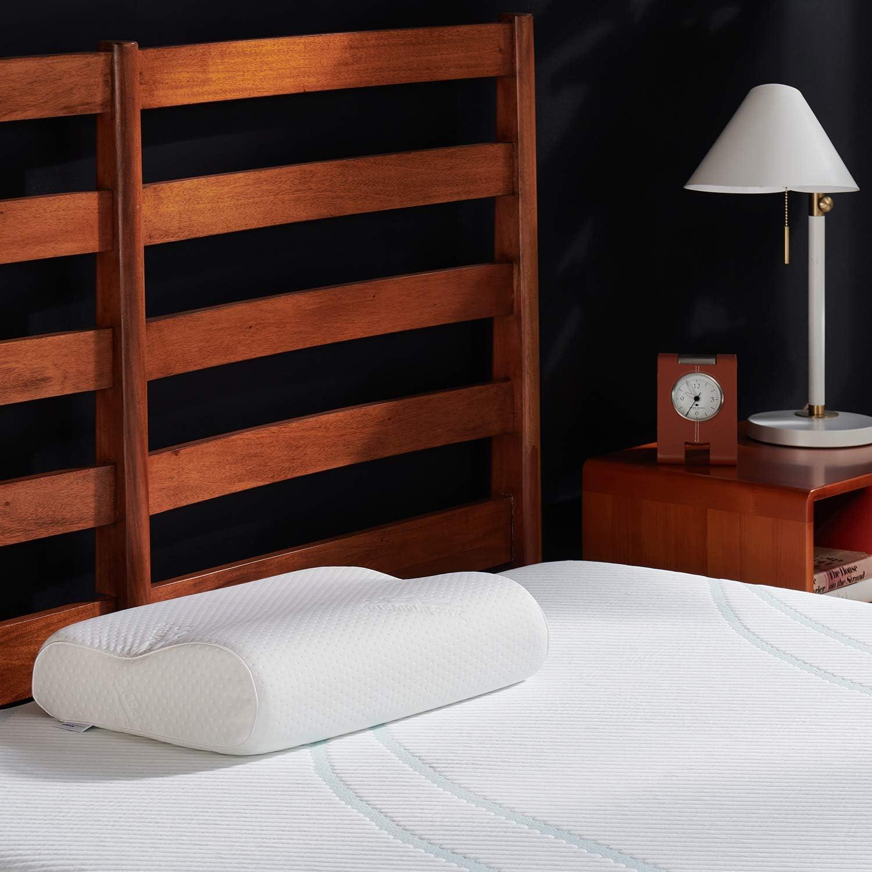 Tempur-Pedic TEMPUR-Ergo Neck Pillow Firm Support, Large Profile, White