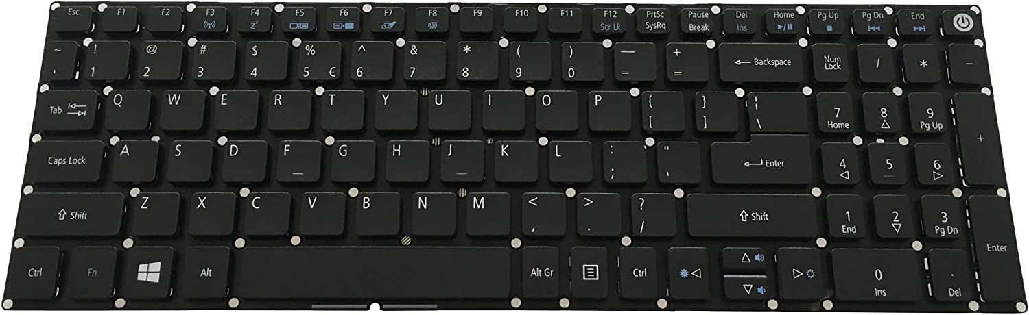 Notebook Keyboard for ACER Aspire A315-31 A315-41 A315-41G A315-53 A315-53G A515-52 A515-52G A517-51 A517-51G A715-71G E5-576 E5-576G E5-576T ES1-572 US keypad No Backlit