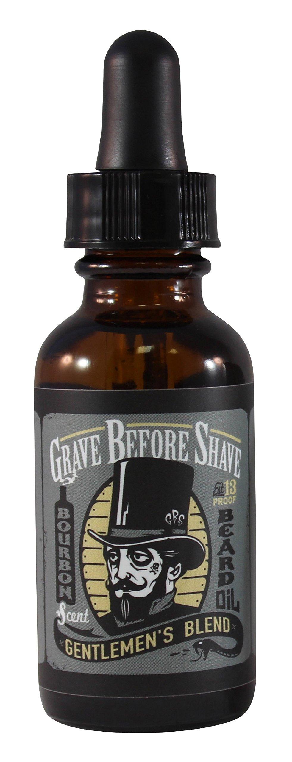 GRAVE BEFORE SHAVE Gentlemen's Blend Beard Oil (Bourbon Scent)