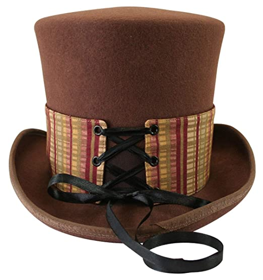 Steampunk Hats | Top Hats | Bowler Historical Emporium Steampunk Corset Laced Reversible Hat Wrap - Short $21.95 AT vintagedancer.com